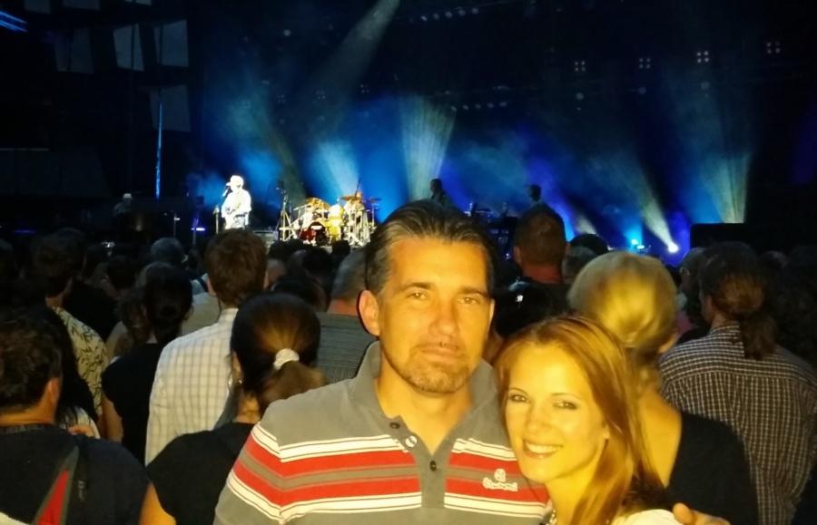 Na koncertu Erica Claptona 2014 na Dunaju